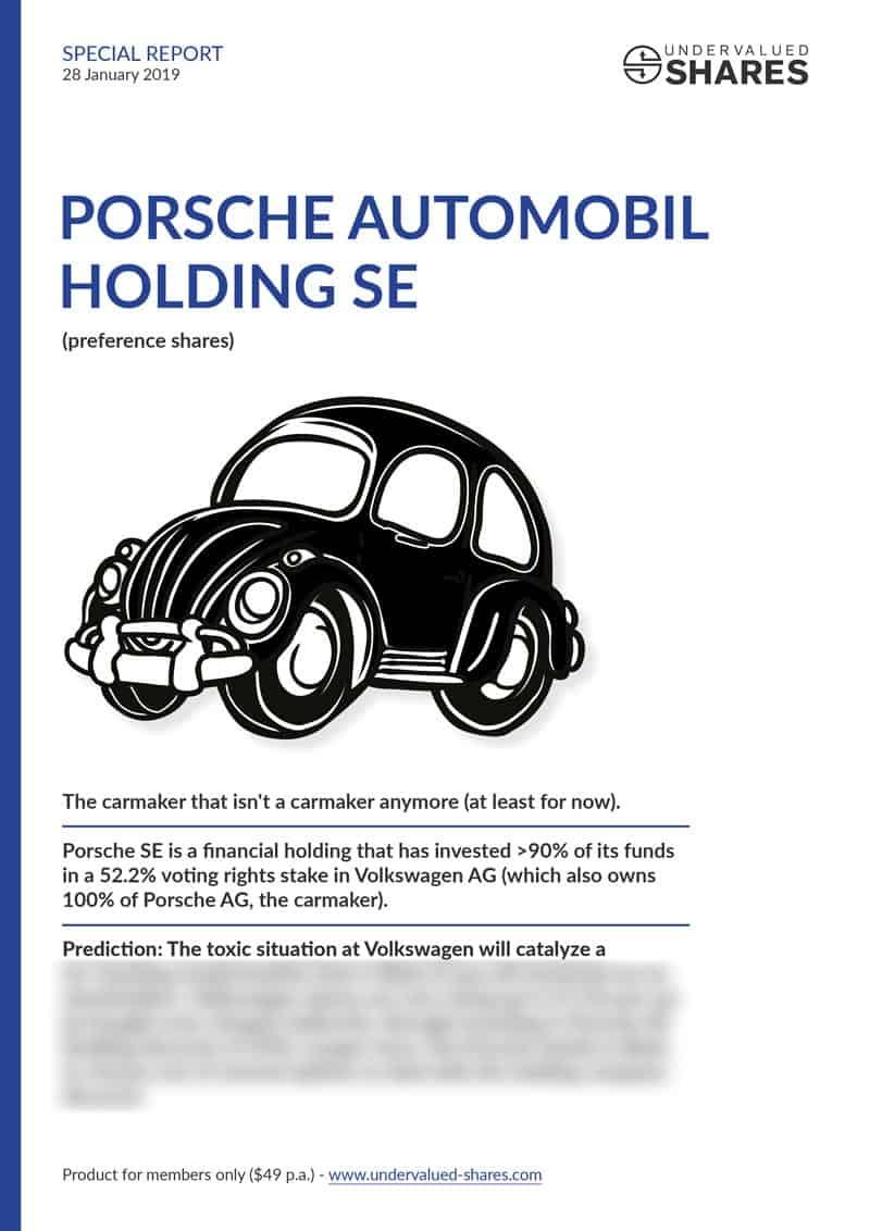 Porsche SE report cover