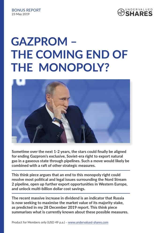 Bonus Report: The Coming End of Gazprom's Pipeline Export