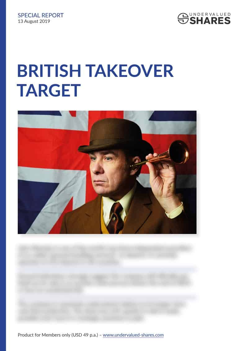 British Takeover Target cover