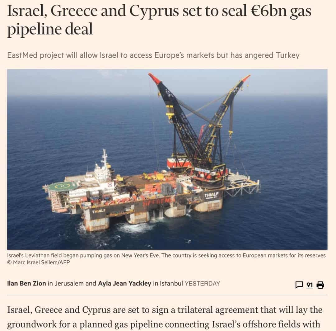 Financial Times gas pipeline deal