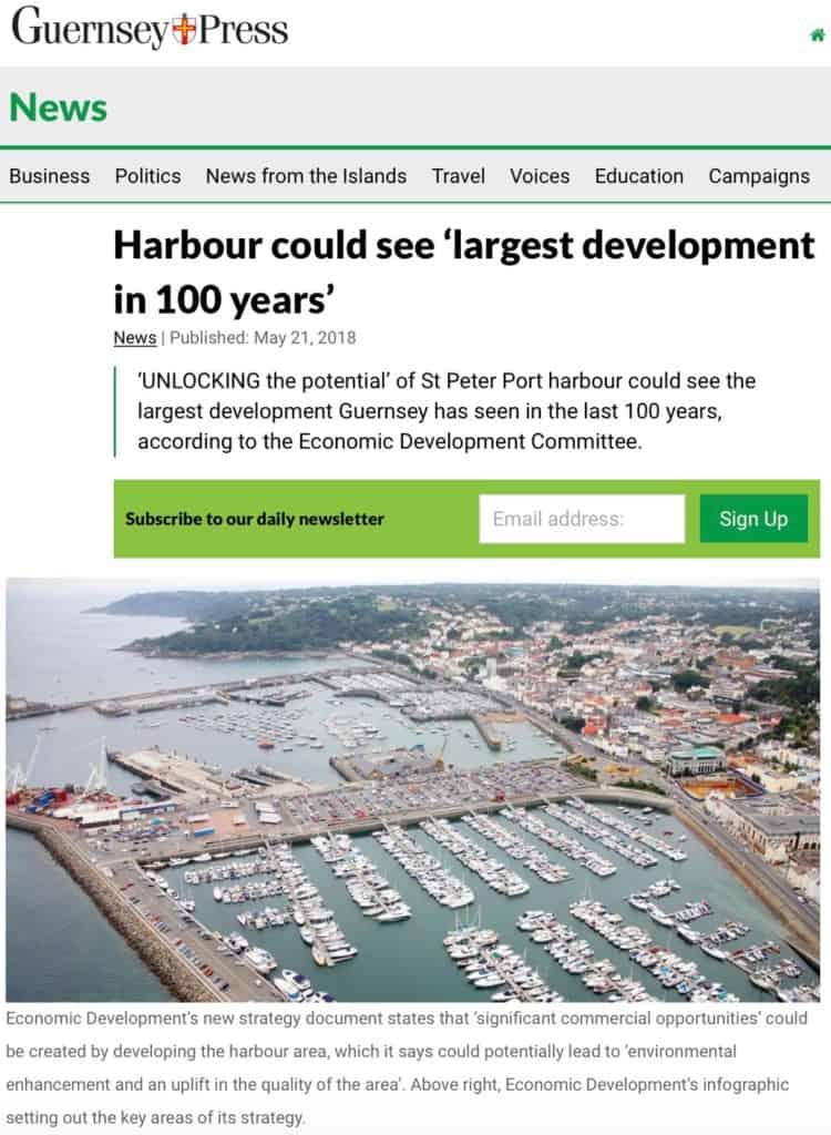 Guernsey Press harbour