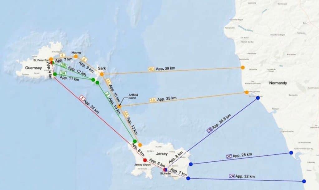 Map links Channel Islands