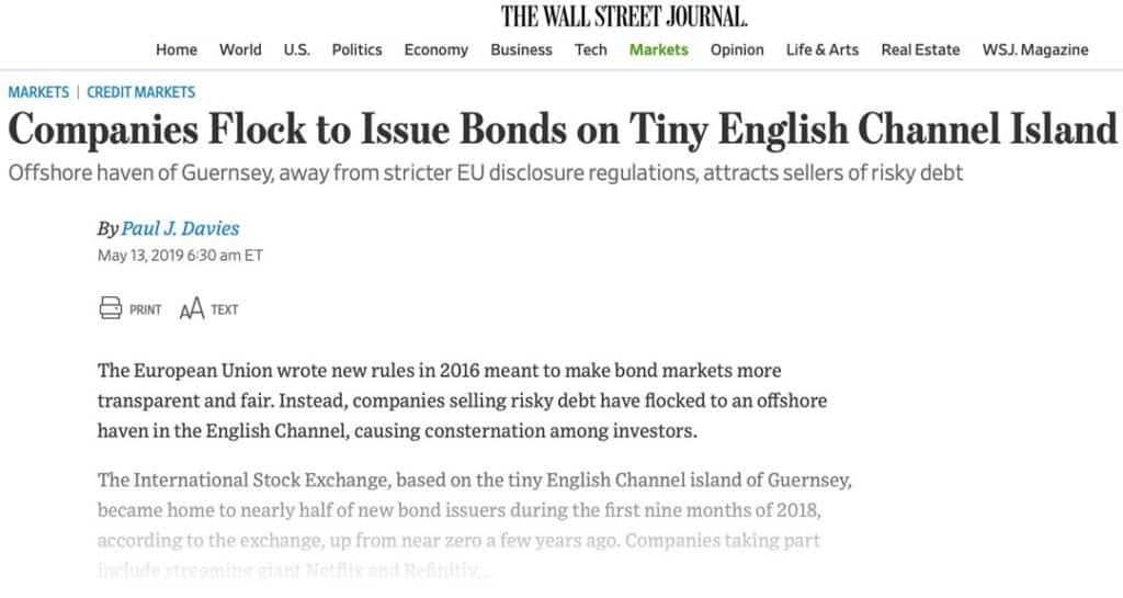 Wall Street Journal Guernsey Stock Exchange