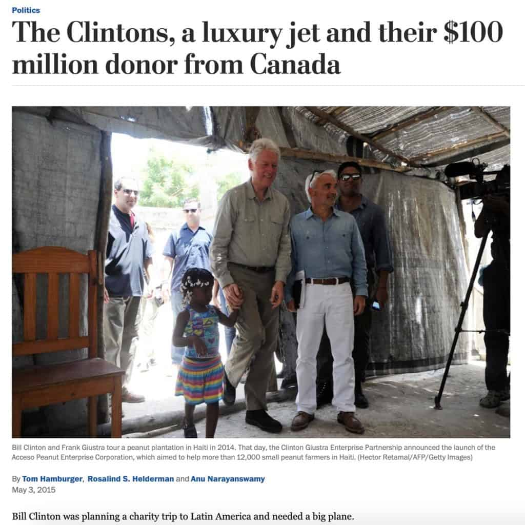 Bill Clinton luxury jet