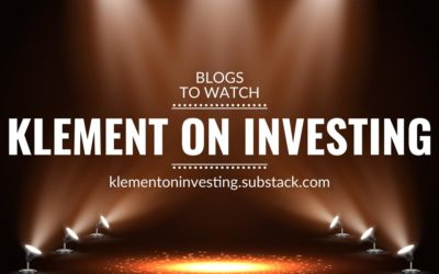 Blogs to watch (part 5): Klement on Investing