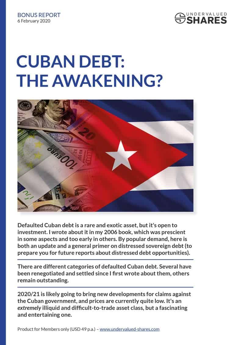 Bonus Report Cuban Debt cover