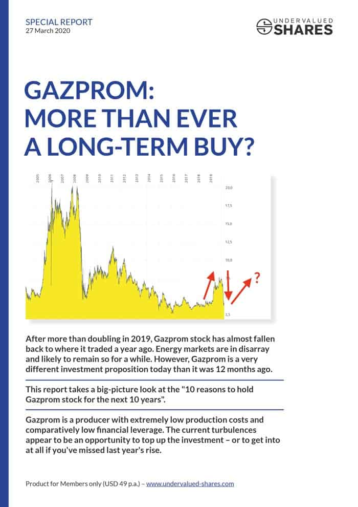 Gazprom - More than ever a long-term buy?