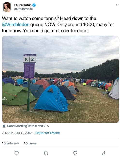 Twitter - People camping for Wimbledon tickets
