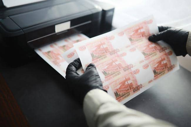 Illegal production of counterfeit money