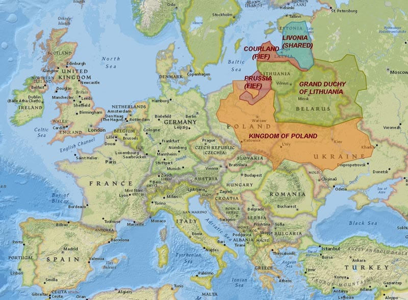 Historical map of Poland