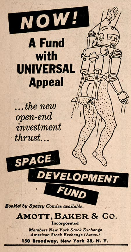 Spaceman ad in The Bawl Street Journal