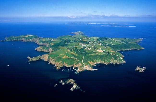 Sark aerial view