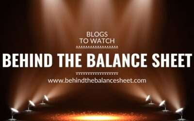 Blogs to watch (part 15): Behind the Balance Sheet