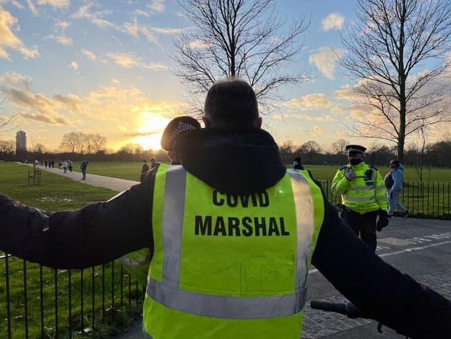 Covid Marshall in London