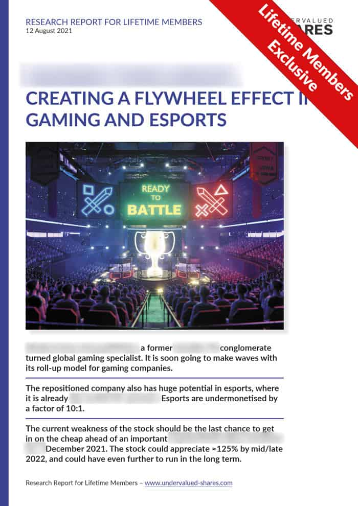 A groundfloor opportunity in gaming and esports