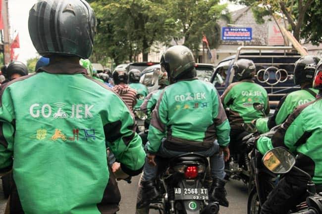 Go-Jek drivers protest