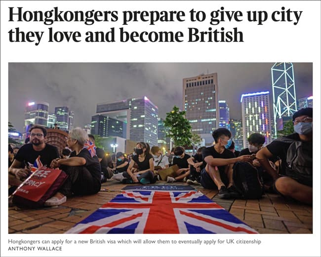 Hongkongers prepare to give up city they love and become British