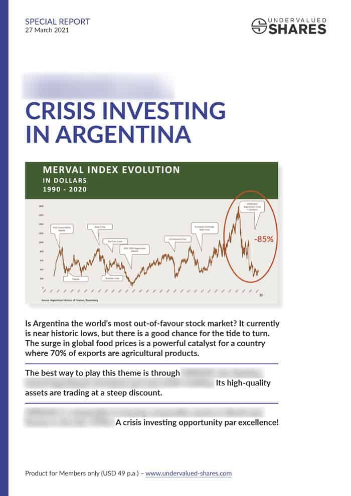 A crisis investing opportunity par excellence