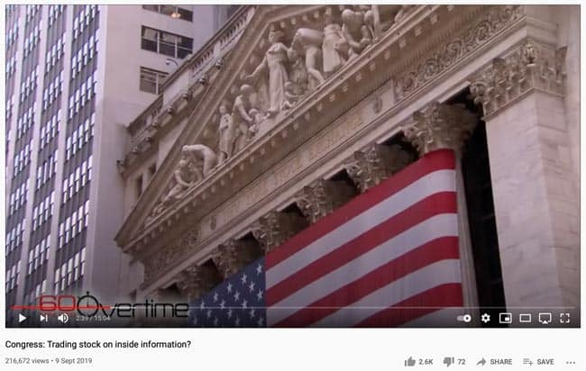 Congress - trading stock on inside information