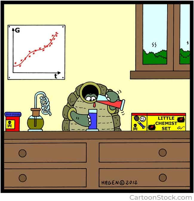 Little chemist set cartoon