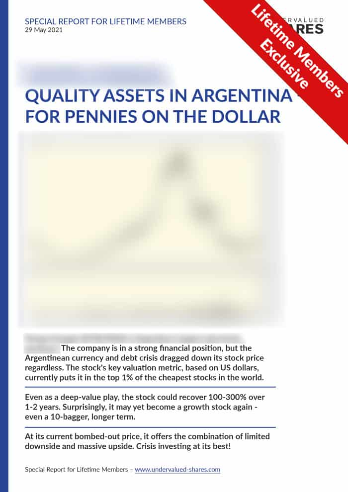 The next Argentinean crisis investing opportunity