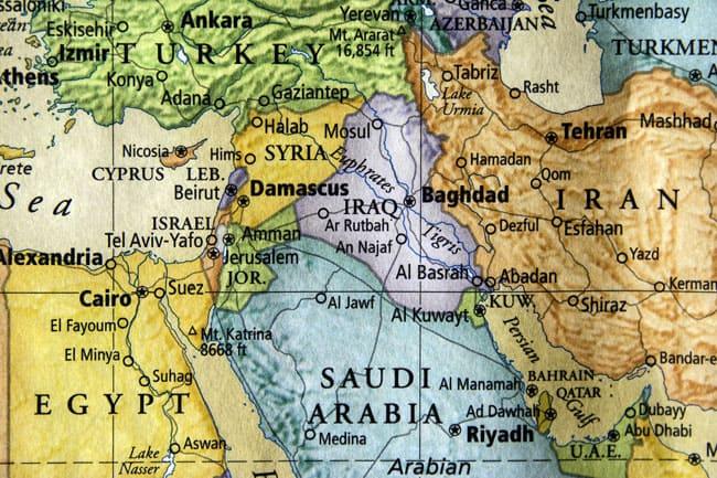 Iraq on map