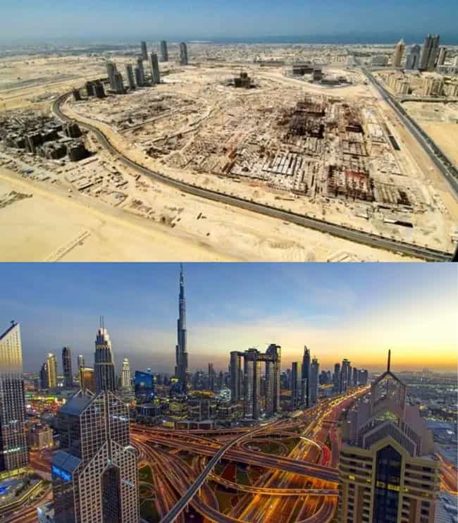 Downtown Dubai 2002 vs 2020