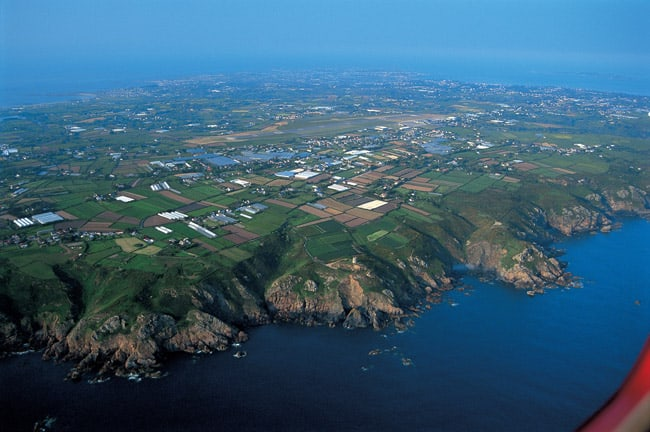 Guernsey property from the air