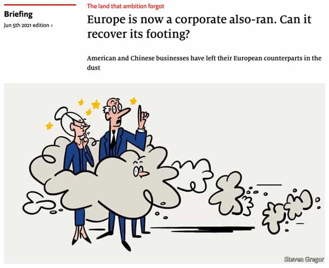 Europe is now a corporate also-ran