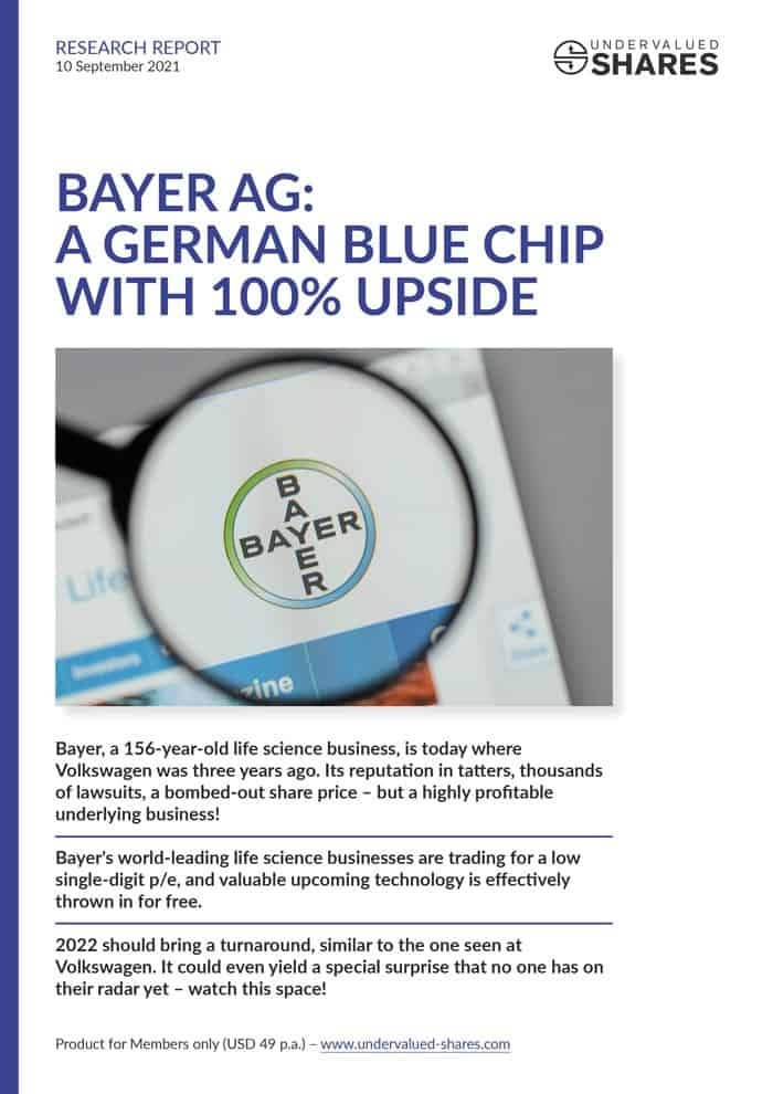 Bayer AG: similar to buying Volkswagen two years ago?