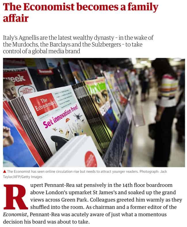 The Economist becomes a family affair
